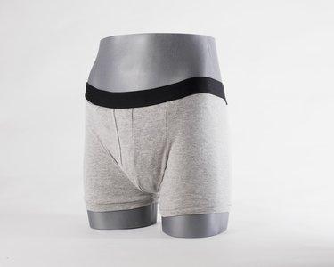 art. 6001g- Heren Contence Hip collectie wasbare incontinentie boxer short grijs
